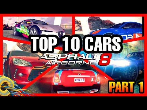 ASPHALT 8 TOP 10 CARS EVERYONE MUST HAVE!!   Asphalt 8 Top 10 Best Cars for Multiplayer Part 1