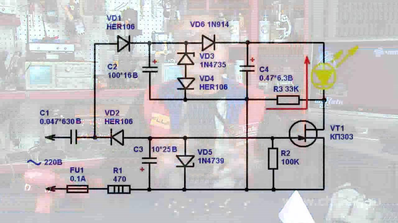 Led Emergency Lights Based On Supercapacitors Youtube Light Wiring Diagram