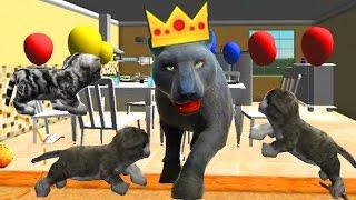 СИМУЛЯТОР КОТА 🐱🐱🐱 #18 ПАНТЕРА и КОТЯТА мульт-игра про котят развлекательное видео