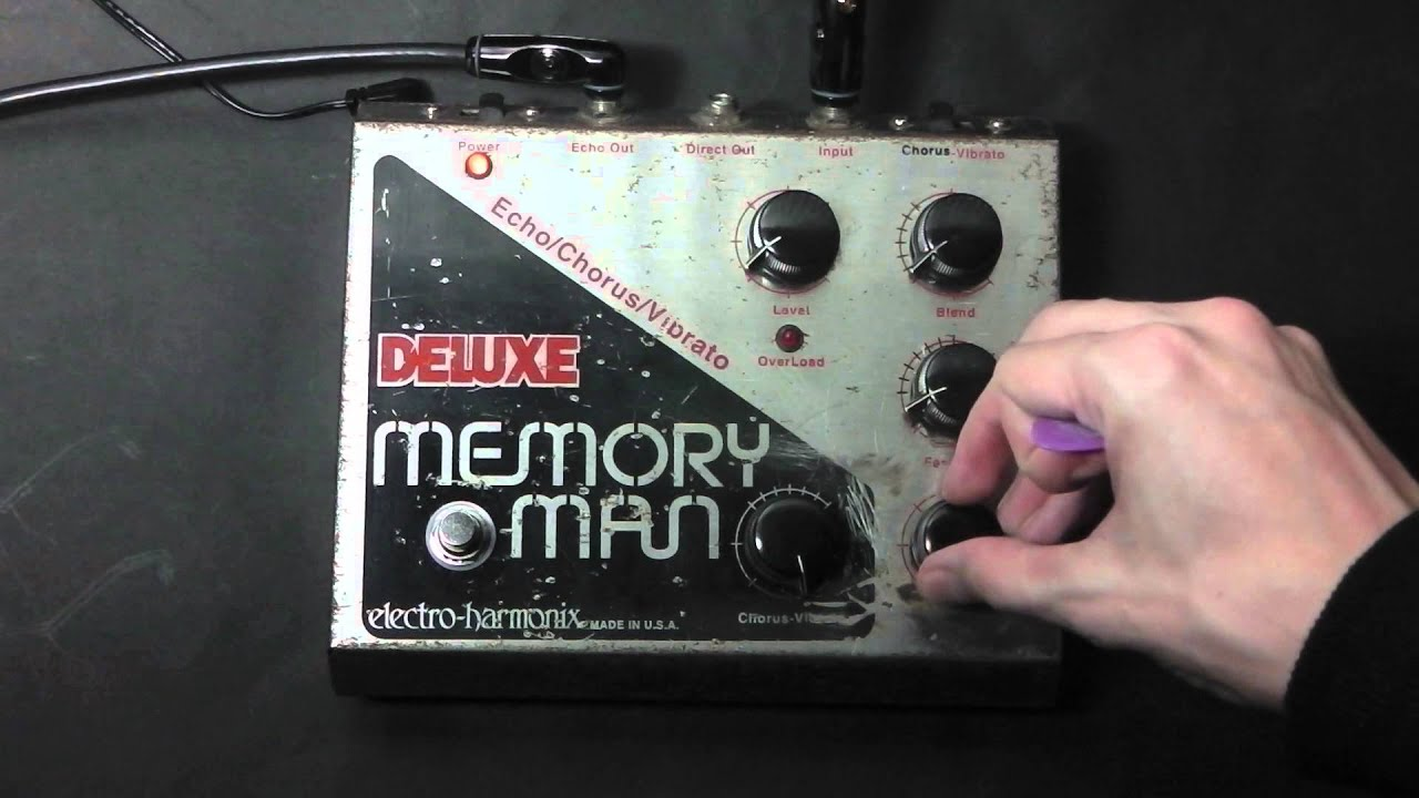 electro harmonix deluxe memory man demo youtube. Black Bedroom Furniture Sets. Home Design Ideas