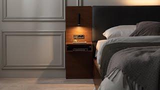 [삼익가구] 델루나 프리미엄 LED 호텔 침대
