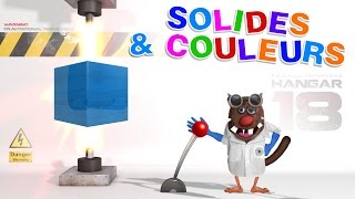 Apprendre aux enfants les Solides et les couleurs (Associates solid shapes and colors for Kids) 4k