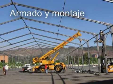 Construccion de galpones ppcl sistema de montaje youtube for Construccion de galpones