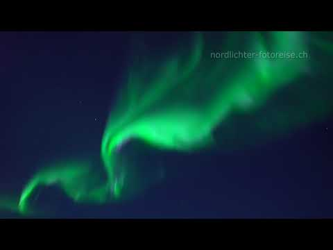 Real time video of aurora borealis corona - Echtzeit Aurora Borealis Corona