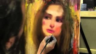 Основы портрета маслом, женский портрет , уроки живописи и рисунка в Москве