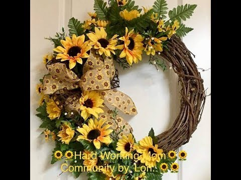 How to make a grapevine Sunflower wreath perfect for Spring and Summer