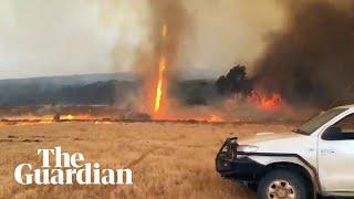 Bushfire tornado tears through Kangaroo Island in South Australia