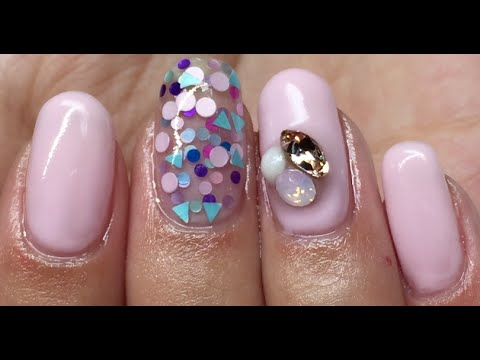 How To Gel Overlay On Top Of Natural Nails - YouTube