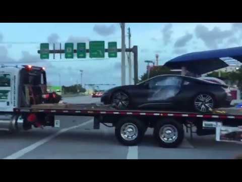Xxxtentacion Vehicle Bmw I8 Getting Taken Away Youtube