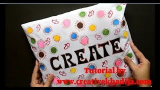 How To Design Pillow Cover with Fabric Paint
