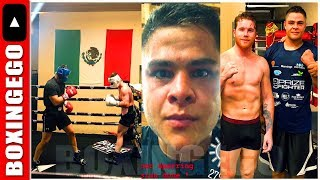 CANELO SPARRING A DAMN SUPER-MIDDLEWEIGHT HITS HARDER THAN GGG GOLOVKIN IN CAMP thumbnail