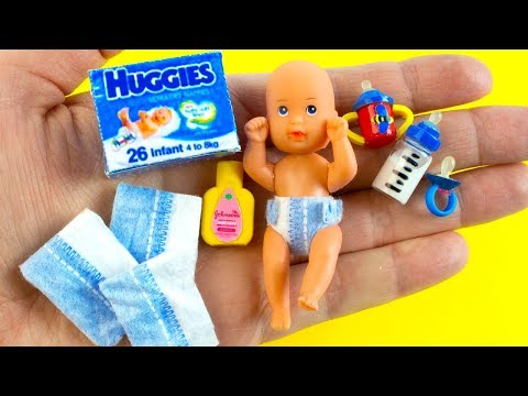 19 DIY Barbie Hacks and Crafts | Miniature Baby Soother, Baby Bottle, Spout Cup, Baby Oil, and more!