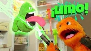 Verde Baba DIY gel de baño desafío 😀 colores 😂 Slimer Ghostbusters Toysreview para niños