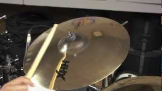 sabian hhx evolution crash   sound examples