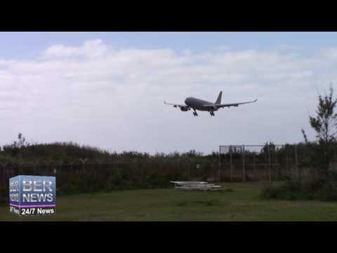 RAF Military Aircraft Landing In Bermuda, January 13 2017