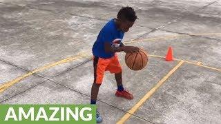 7-Year-Old Phenom Displays Elite Basketball Skills