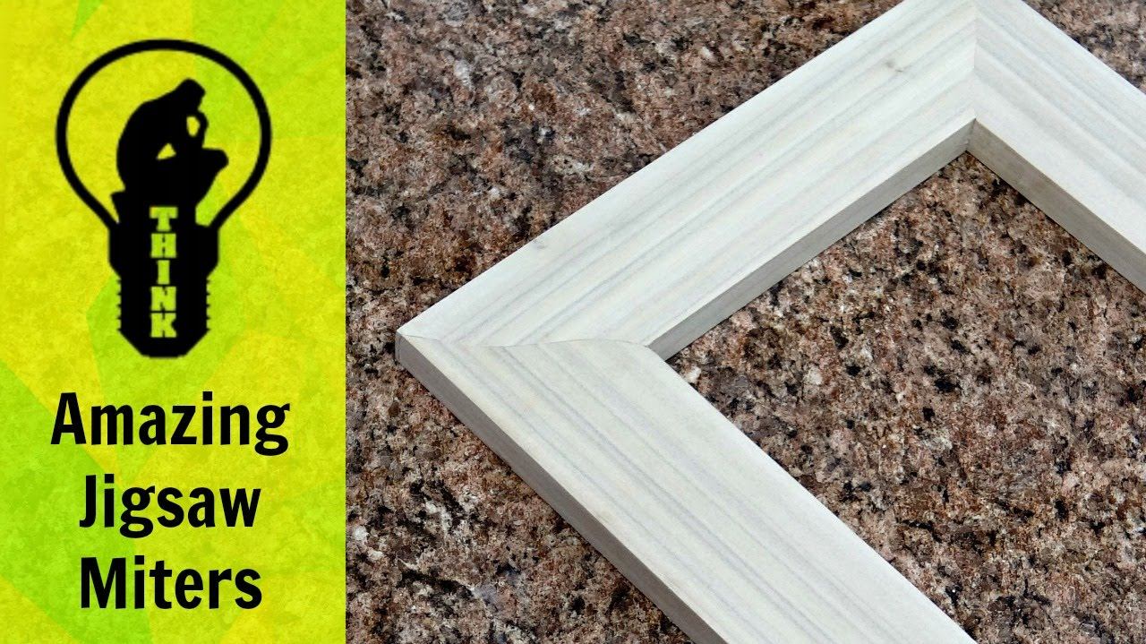 How To Make A Picture Frame With A Jigsaw Youtube