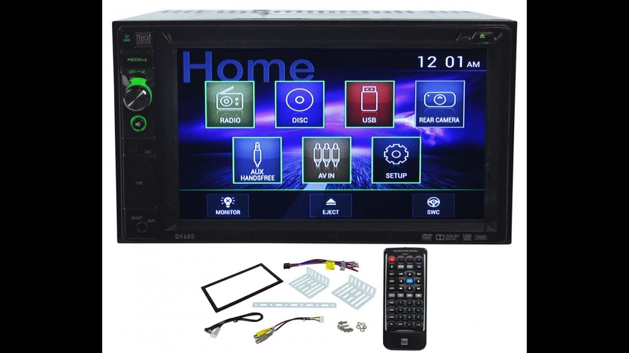 maxresdefault dual dv605 double din dvd stereo receiver review youtube dual xdvd236bt wiring diagram at gsmx.co