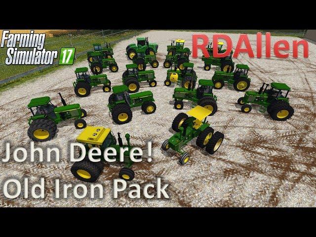 Cub Cadet - John Deere Old Iron Pack - Farming Simulator 17 Mod Review