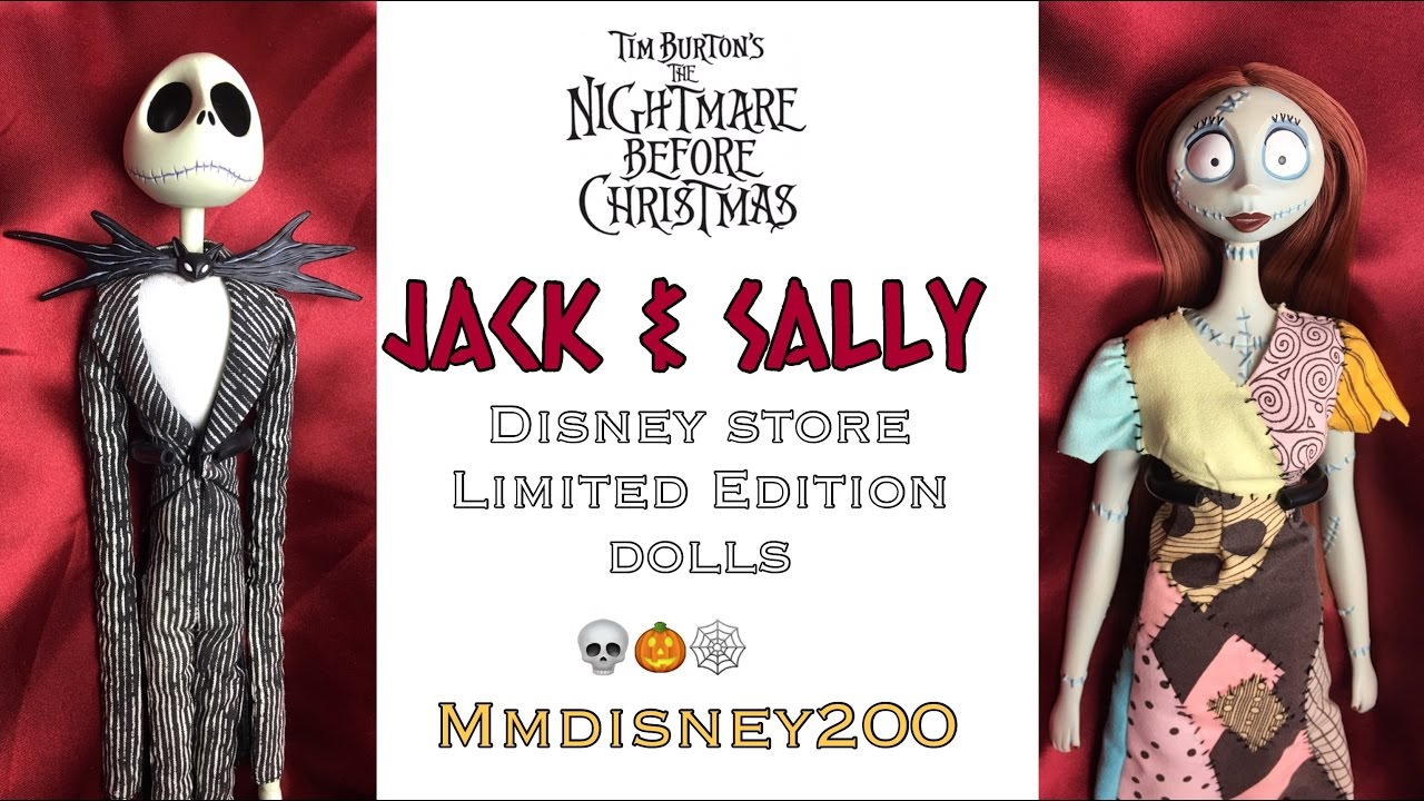Jack and Sally from Nightmare before Christmas Disney Store Limited ...