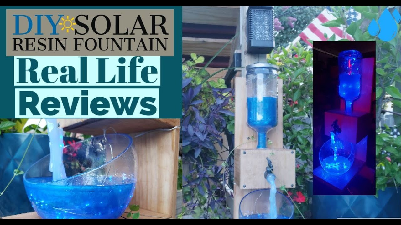 DIY Resin Solar Powered Water Fountain Real Life