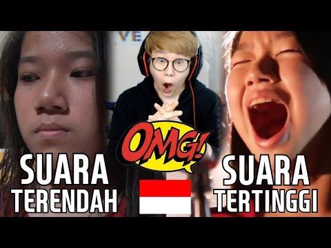 REAKSI ORANG KOREA MERINDING MENDENGAR SUARA ORANG INDONESIA TERTINGGI & TERENDAH