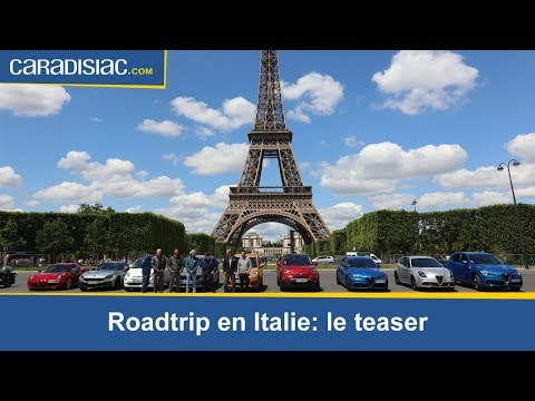 Teaser Road trip Caradisiac en Italie : une virée de 27 000 km en Alfa Romeo, Fiat et  Abarth