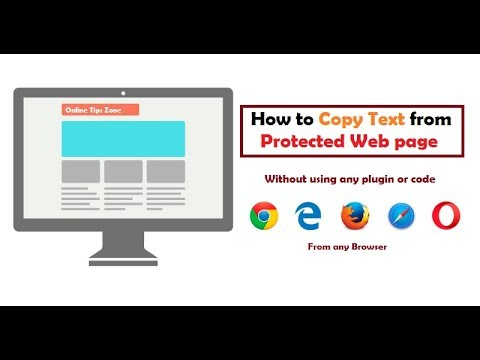 How to copy text from Restricted Web Page