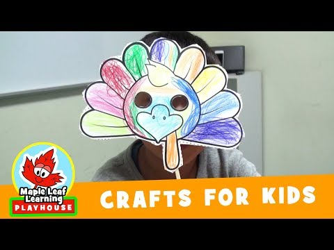 Thanksgiving Turkey Mask Craft for Kids | Maple Leaf Learning