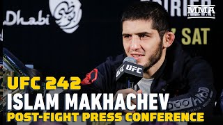 UFC 242: <b>Islam Makhachev</b> Post-Fight Press Conference - MMA ...