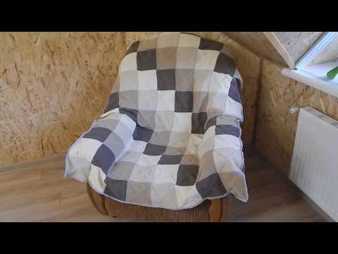 Плед на кресло,первая готовая работа марта