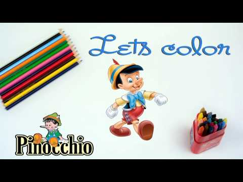 Coloring Pinocchio  // Pinocchio Story // Pinocchio Coloring Pages // Coloring For Kids