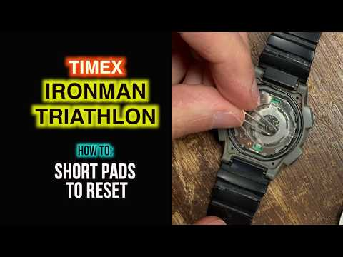 How To Short Pads To Reset Timex Ironman Triathlon After Battery Insertion