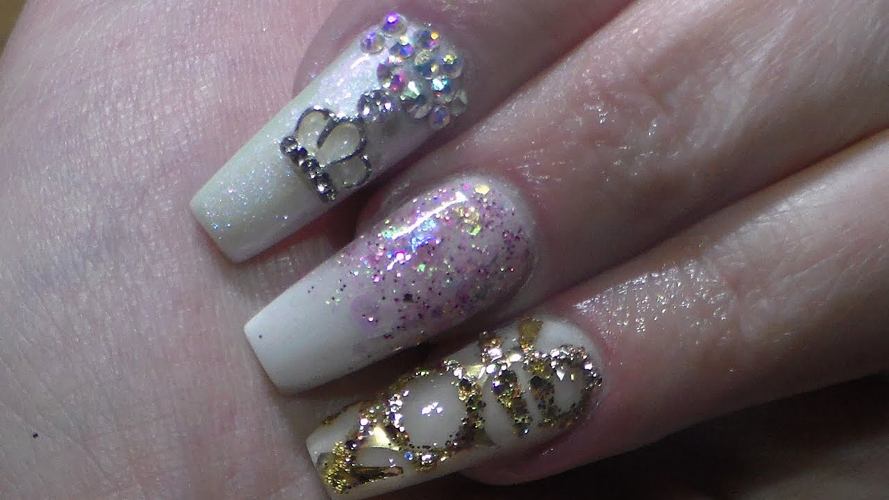 acrylic nails year design