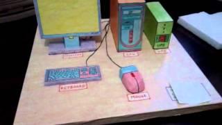 Computer model on thermocol