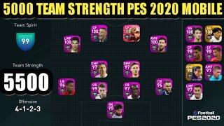 PES 2021 Mobile 5000+ Team Strength | Highest Team Strength In PES 2021 Mobile | Zaki Pes Official|