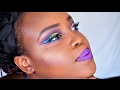"""Colorful Carnival Makeup Tutorial using BH Cosmetics """"Take me to Brazil"""" Palette"""