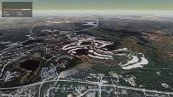 Interactive 3D flight: Petäjäkangas trail around golf course in Kuusamo