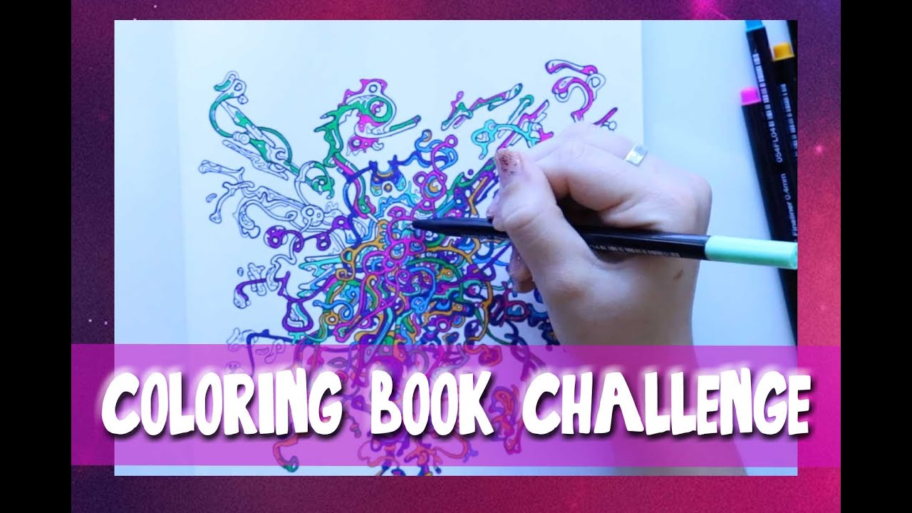 The Coloring Book Challenge A Page From Color Me Crazy Dramaticparrot