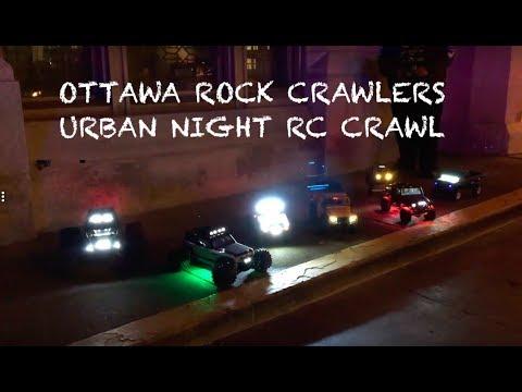 URBAN NIGHT RC CRAWL! Ottawa Rock Crawlers + Netcruzer RC Walkaround