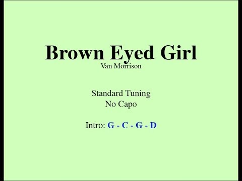Brown Eyed Girl Easy Guitar Chords And Lyrics Youtube
