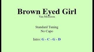 Brown Eyed Girl - Easy Guitar (Chords and Lyrics)
