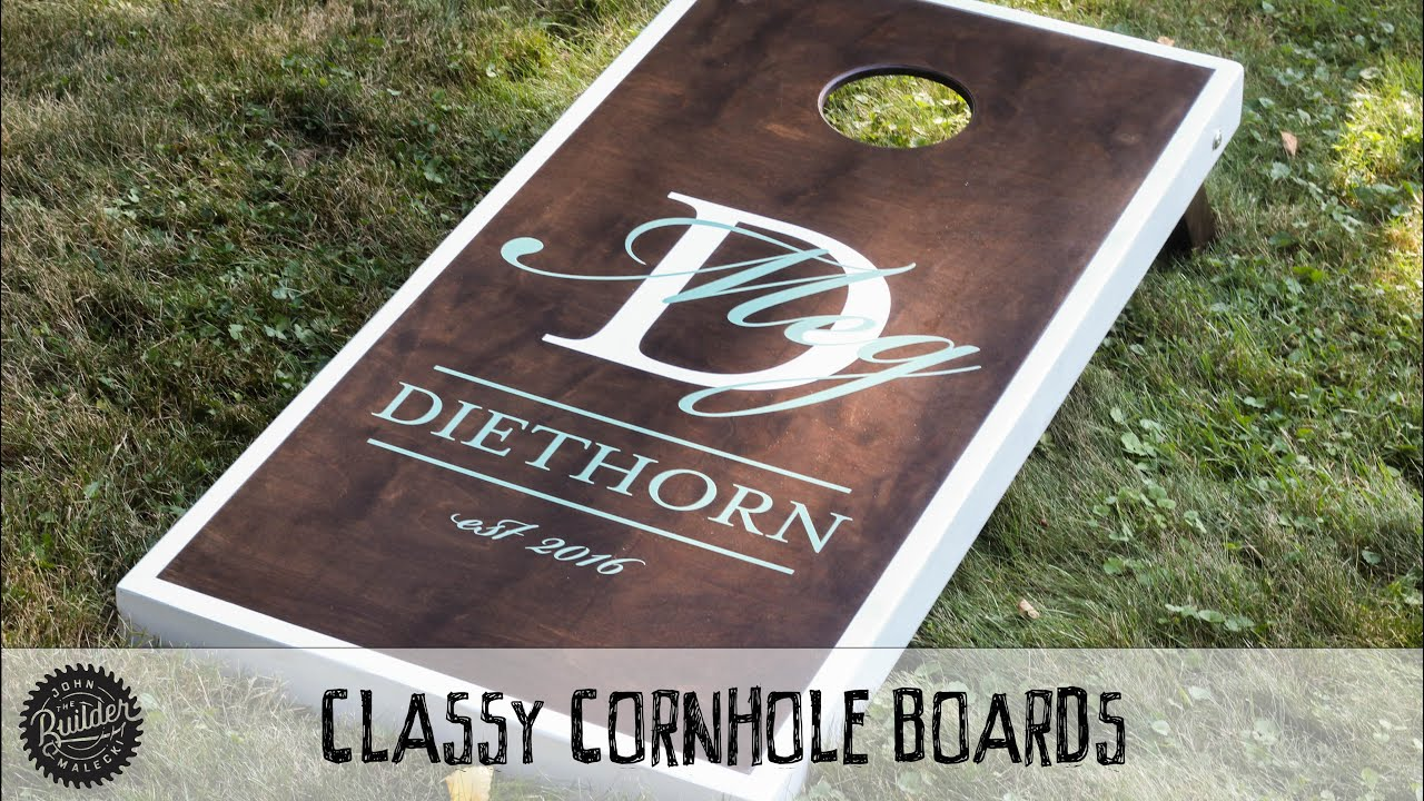 How To Build A Set Of Classy Custom Cornhole Boards - YouTube