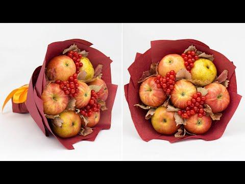 Осенние букеты своими руками из яблок
