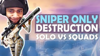 DAEQUAN SOLO VS SQUADS - SNIPER ONLY | HIGH KILL FUNNY GAME - (Fortnite Battle Royale)