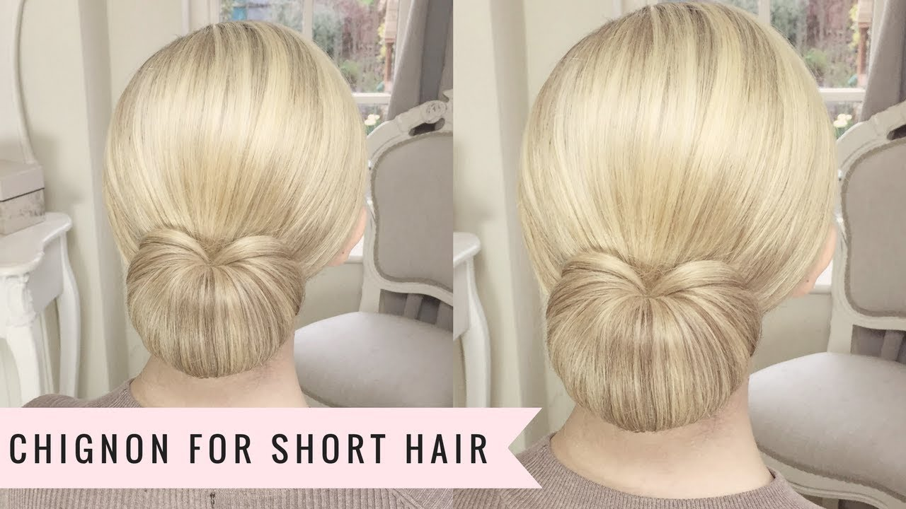 A Chignon for Short Hair by Sweethearts Hair