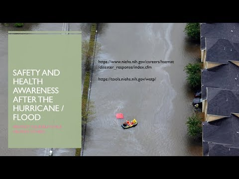 Safety and Health Hazards From Hurricane Aftermath