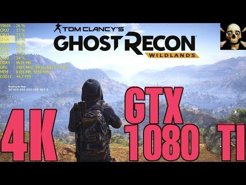 Ghost Recon Wildlands 4K UltraHD Gtx 1080 TI Fps Performance Ultra!!