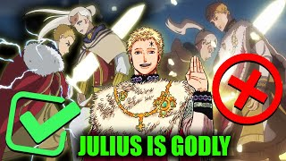 Black Clover S Julius Is Not Human How Strong Was Wizard King Julius Novachrono In His Prime Youtube What's interesting is that these guys all have a link with julius novachrono, in this video i explain how strong julius novachrono the clover kingdom's wizard king actually is. black clover s julius is not human how strong was wizard king julius novachrono in his prime