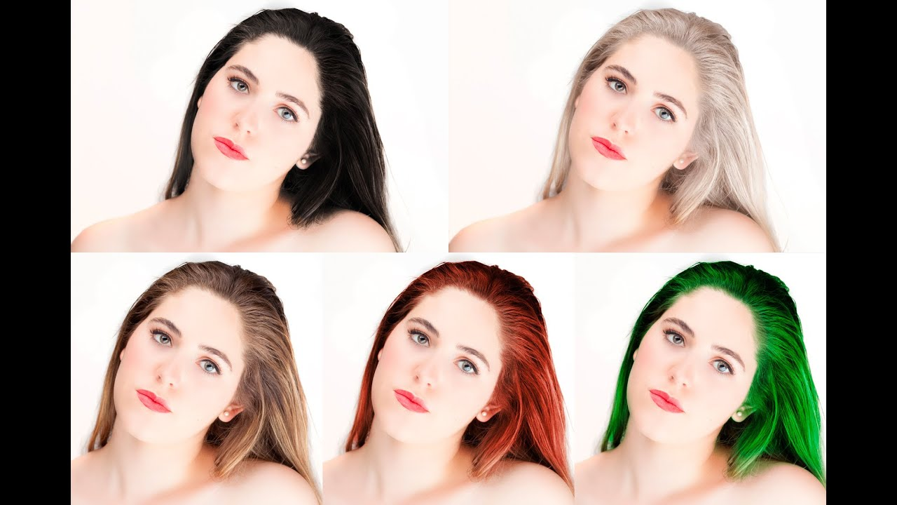 How To Change Hair Color Photoshop Tutorial Youtube